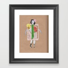 Miss Textiles Framed Art Print