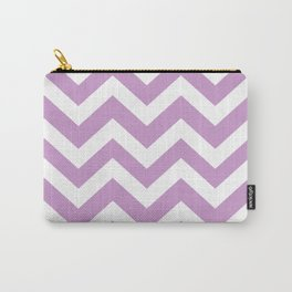 Light grayish magenta - violet color - Zigzag Chevron Pattern Carry-All Pouch