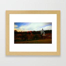Telescope in Autumn Framed Art Print