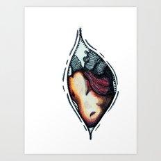 zip up your heart! Art Print
