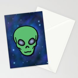 Alien in Space Stationery Cards
