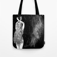 apollonia Tote Bags featuring asc 604 - L'invocation à Vénus (Venus under the sky) by From Apollonia with Love