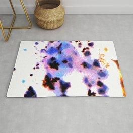 psychedelic digital moss agate Rug