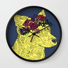 Cyclamen Wall Clock