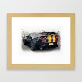 Lotus Exige GT3 Framed Art Print
