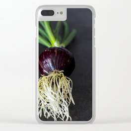 The red onion Clear iPhone Case
