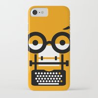 typewriter iPhone & iPod Cases featuring typewriter by oguzhan