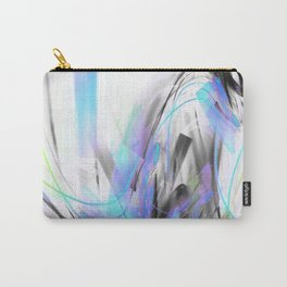 Future Blue Glitch Waves Carry-All Pouch