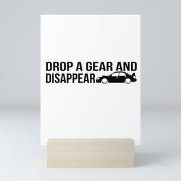 Drop a gear and disappear - WRX STI Mini Art Print
