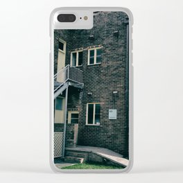 Brick Building Toilets Clear iPhone Case