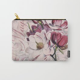 Vintage Magnolia flower illustration Carry-All Pouch