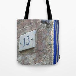 13 - Blue Starry Night Door Tote Bag