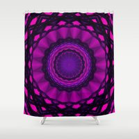 Triangles and Rounds Mandala Shower Curtain