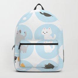 Cute Blue Kitties Backpack