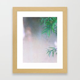 Green / Grey Framed Art Print