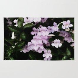 Trumpet Flowers Noir Rug