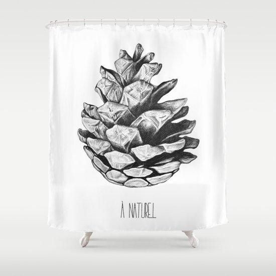 Fir cone Shower Curtain