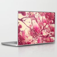 magnolia Laptop & iPad Skins featuring magnolia  by Beverly LeFevre