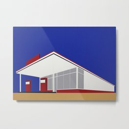 Gas Station 27 Metal Print
