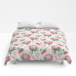 Pink Proteas Comforters