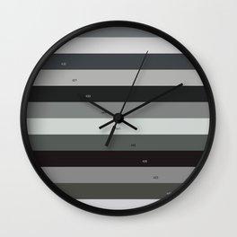Pantone gray scale Wall Clock