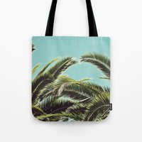 palms Tote Bags featuring Palms by Lawson Images