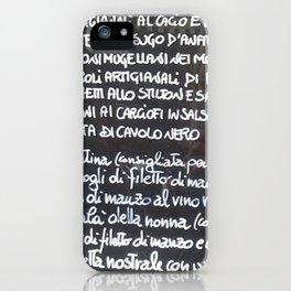 Italian menu iPhone Case