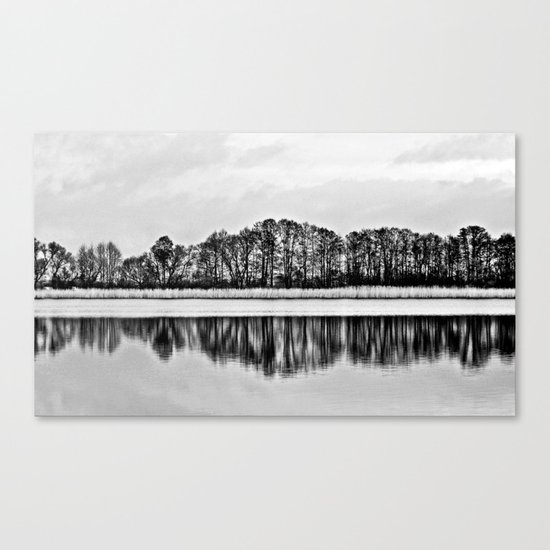 White Symphony of Winter Lake Canvas Print
