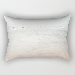 At the Beach (six) - minimal beach series by Ingrid Beddoes Rectangular Pillow