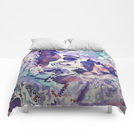 Psychedelic Strawberry Fields Comforters