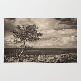 One tree in the mountains Rug