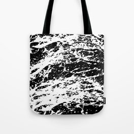 Black and White Paint Splatter Tote Bag