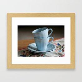 Vintage J & G Meakin Celeste espresso cups Framed Art Print
