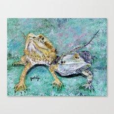 Bearded Dragons Canvas Print