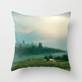 Last Tendrils of Fog Throw Pillow