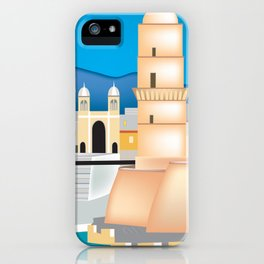 Marseille, France - Skyline Illustration by Loose Petals iPhone Case