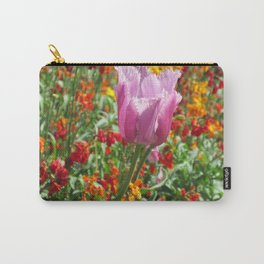 Pink tulip in bloom Carry-All Pouch