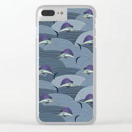 Swordfish Espadon   Pattern Art Clear iPhone Case