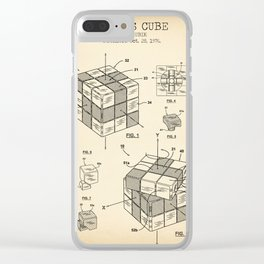 Rubik's cube vintage Clear iPhone Case