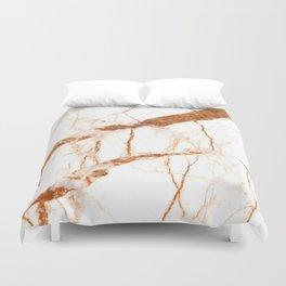 White Gold Marble Duvet Cover