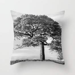 The Tree (Black and White) Throw Pillow