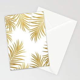 Gold Palm Leaves Vibes #1 #shiny #tropical #decor #art #society6 Stationery Cards