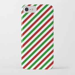 X-mas Holiday Stripes iPhone Case iPhone Case