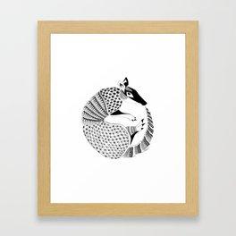 Possum on the Half Shell (Armadillo) Framed Art Print