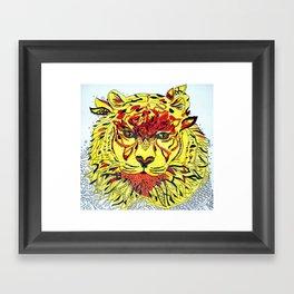 Tigereye Framed Art Print