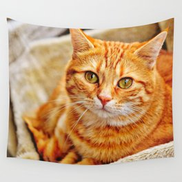 Cute red cat Wall Tapestry