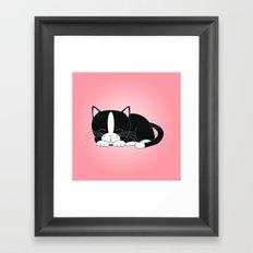 Tuxedo Kitten Framed Art Print