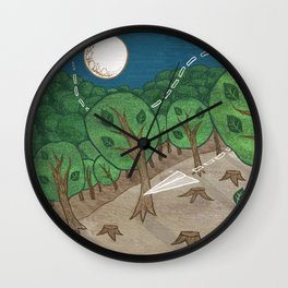 The little big forest Wall Clock
