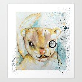 The Plotting Chipmunk may be Evil Art Print