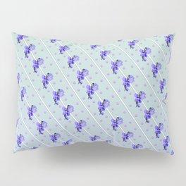 Stripes and Violets Pillow Sham